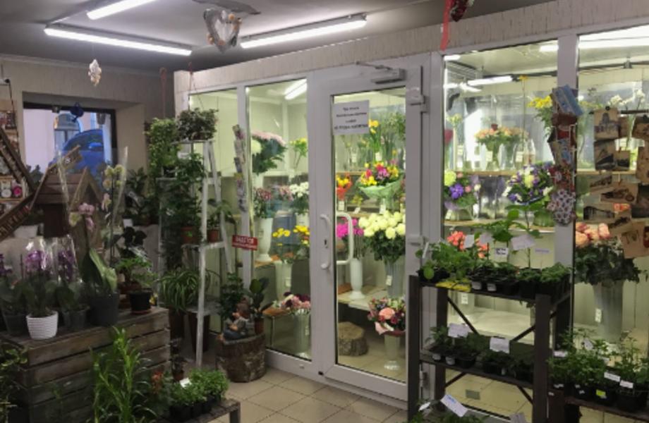 Цветочный магазин в центре города