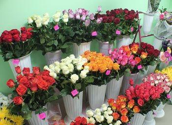 цветочный магазин в спальном районе