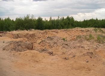 Карьер у трассы м 11. 1000000 м3 песка.