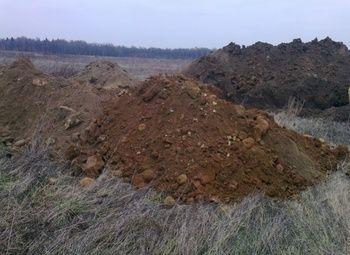 Готовый карьер по добыче песка и песчано-гравийной смеси.